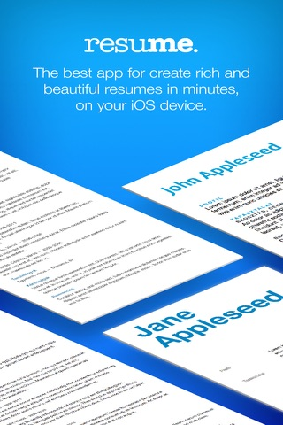 Resume Builder, Resume Creator screenshot 1