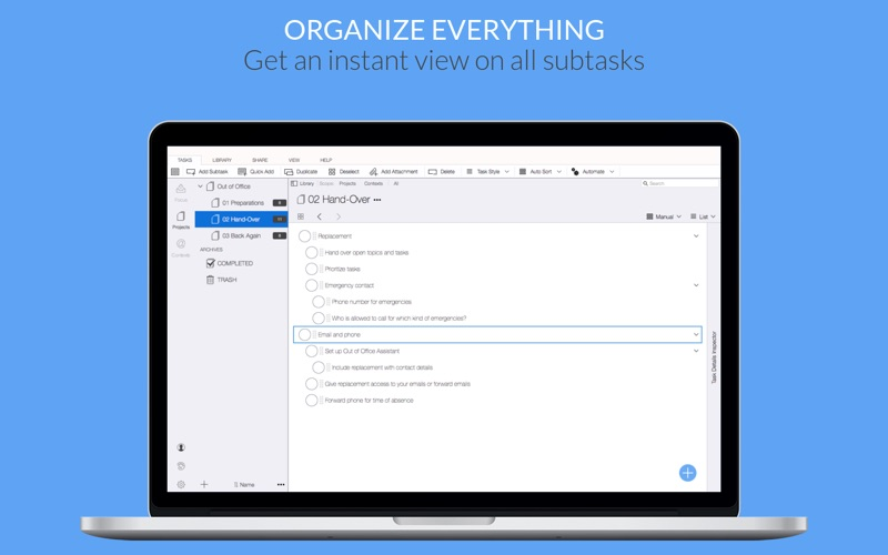 Organize:Me for Mac