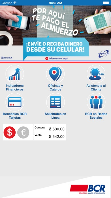 Bcr m vil on the app store for Oficinas bcr