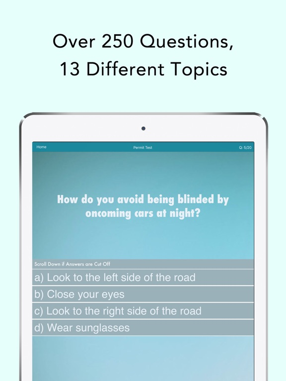 How Many Questions Are On The Permit Test In Pa >> Pennsylvania Driving Test on the App Store