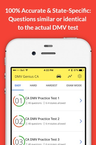 DMV Genie Permit Practice Test screenshot 2