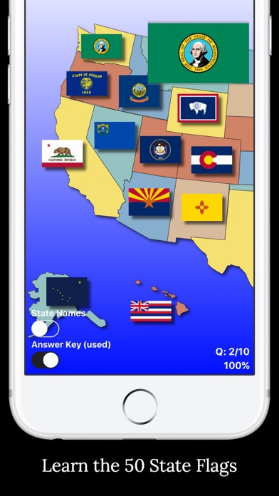 United States Map Quiz On The App Store - Us map iphone developer
