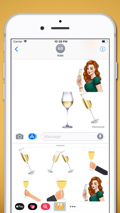 download Champagne Sparkling Sticker apps 0