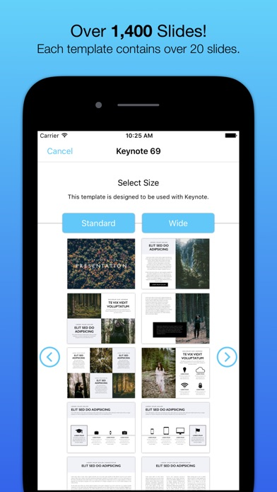 Templates for Keynote (Nobody) Screenshots