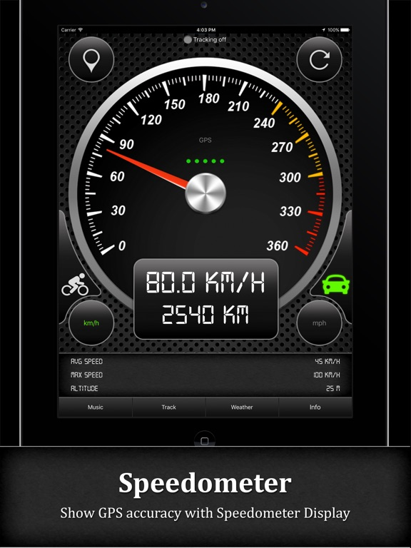 Smart GPS Speedometer PRO Screenshots