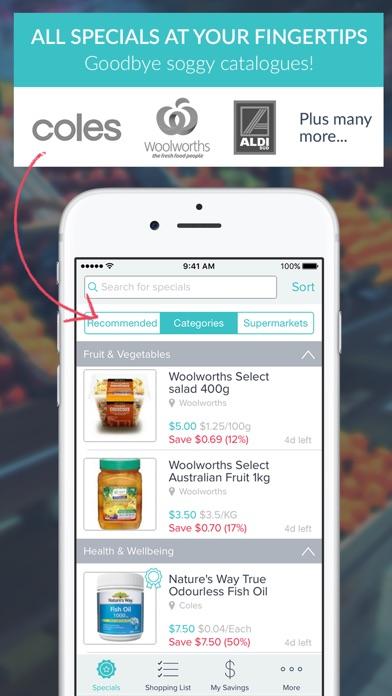 Trolley Saver - Shopping List screenshot one