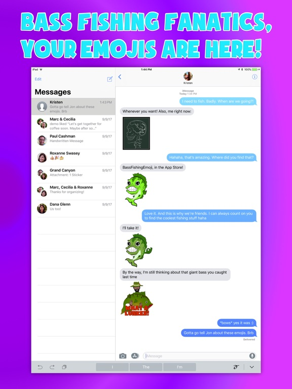 Bass fishing emoji stickers on the app store for Bass fishing apps