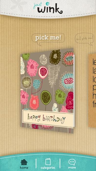 justWink Greeting Cards Screenshot