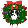Kelsey Moore - Momi Emojis-Corgi Christmas artwork