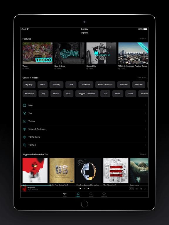 TIDAL iPad