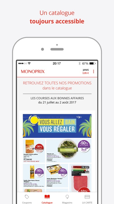 monoprix et moi dans l app store. Black Bedroom Furniture Sets. Home Design Ideas