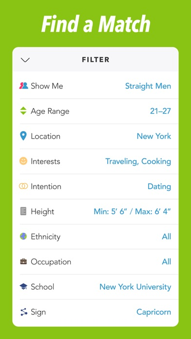Screenshots of Clover Dating App for iPhone