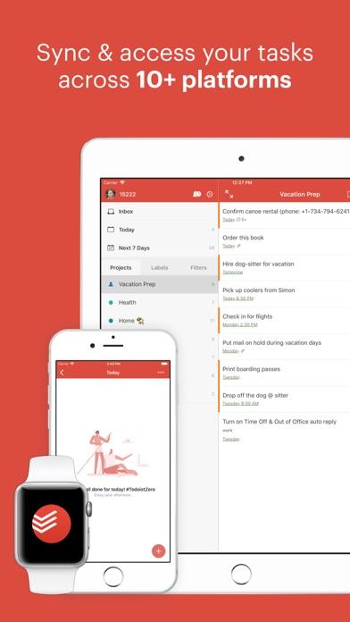 Screenshot 4 for Todoist's iPhone app'