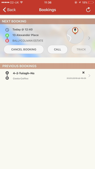 Screenshot of Strabane Cabs App