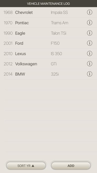 vehicle maintenance logを app store で