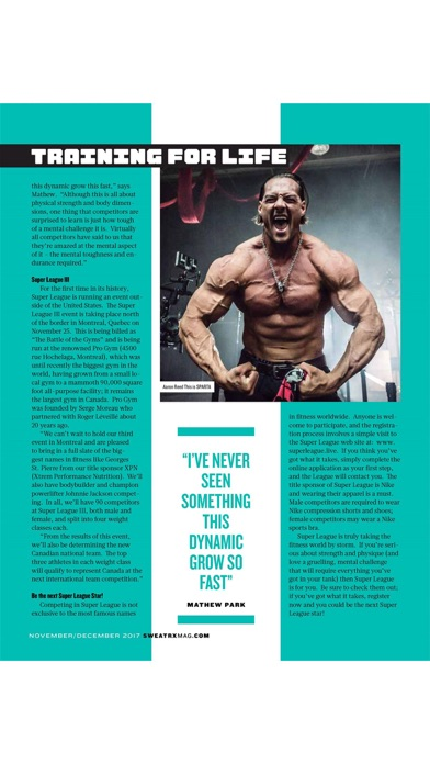 SWEAT RX Magazine Screenshot on iOS