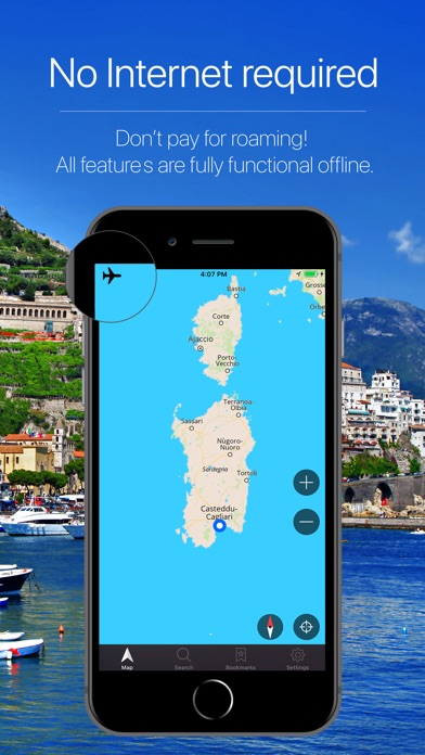 Screenshot for Sardinia, Italy Navigation in Japan App Store