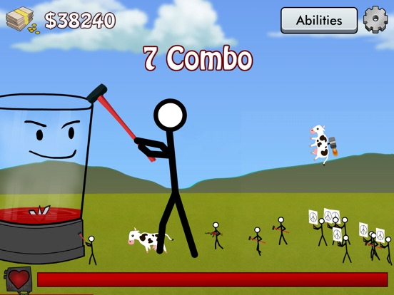 Screenshots of Stick Blender Free: Stickman Defense for iPad