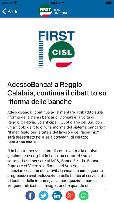 Screenshot of CISL FIRST Salerno6