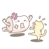 Hao Nguyen - Cat and Toilet Paper Sticker artwork