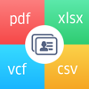 Contacts to Excel , PDF , CSV