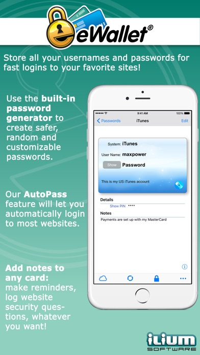 eWallet - Password Manager and Secure Storage Database Wallet Screenshot 4