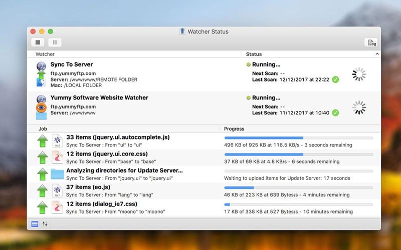 Yummy FTP Watcher Screenshots