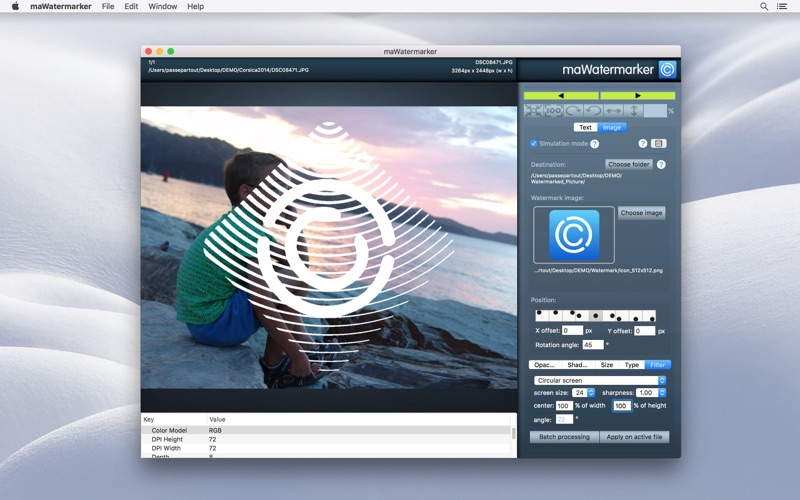 maWatermarker Screenshots