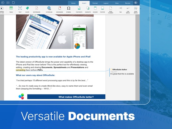 OfficeSuite PRO Mobile Office Screenshots