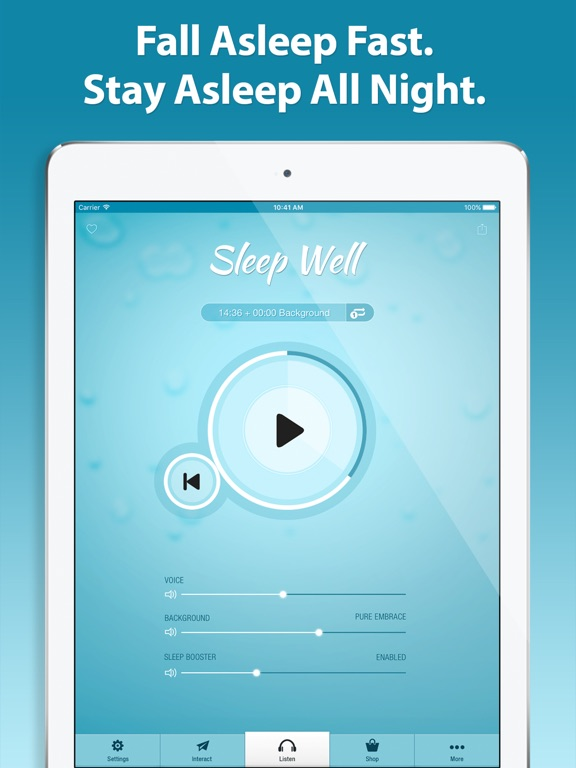 Sleep well hypnosis pro on the app store ipad screenshot 1 ccuart Images