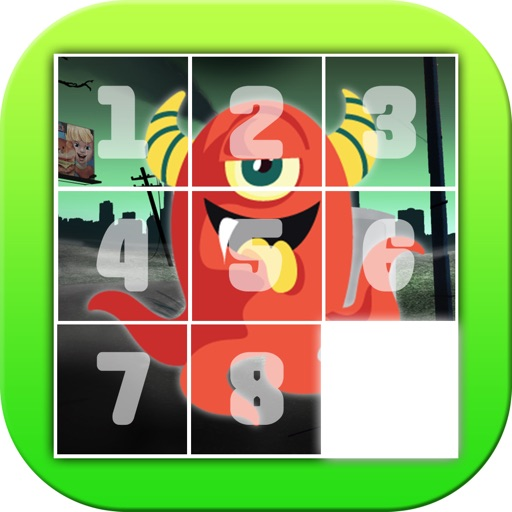 Monster Slide Puzzle For Kids iOS App