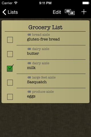 Simple Grocery List screenshot 2