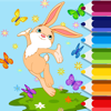Bunny And Butterfly Coloring Page Game Education Wiki