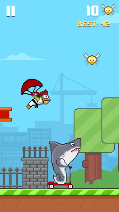 Screenshots of Hoppy Frog 2 - City Escape for iPhone
