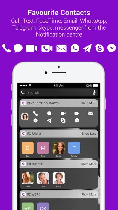 Избранное Widget - Контакты Launcher для iPhoneСкриншоты 1