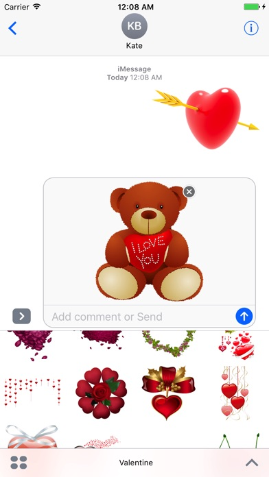 バレンタインステッカーのスクリーンショット1