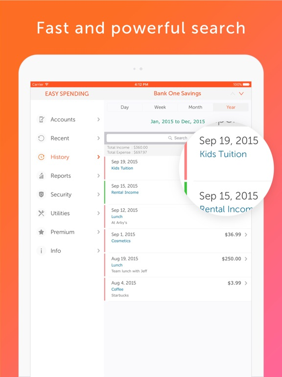 Screenshot #2 for Easy Spending - Money tracker, Budget Planner