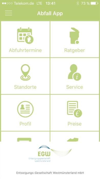 Screenshot von Abfall-App WML1