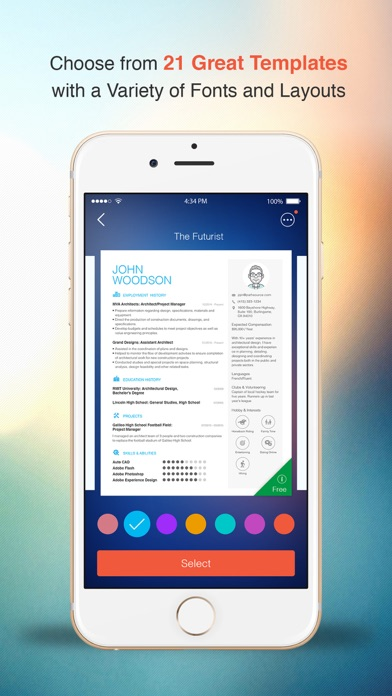 resume cv builder designer for your job search on the app store