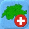 Cantoni della Svizzera - Bandiera e mappa svizzeri