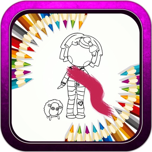 Color Book Game for Lalaloopsy Turvy Version iOS App
