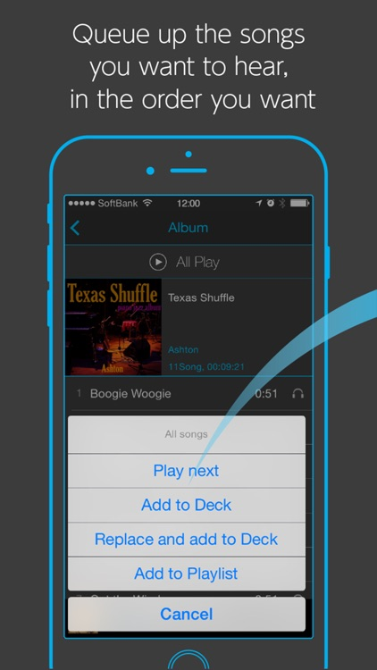 Soundeck! - simple music player by Naia Inc