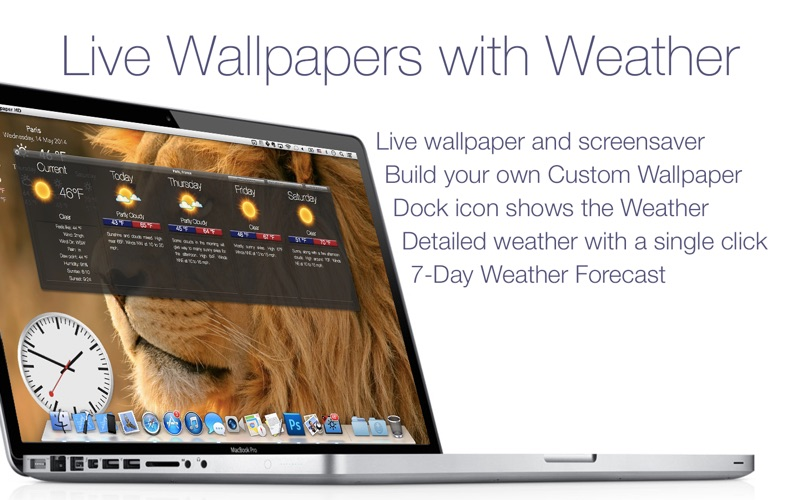 Live Wallpaper HD+: desktop weather & screensaver Screenshots