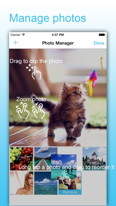 Screenshots of SlideShow Maker - Picture Video & Movie With Music for iPhone