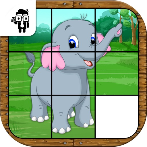 Animal Slide Puzzle Kids Game iOS App