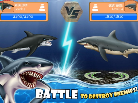shark world sharks jurassic animal battle games on the app store ipad screenshot 2