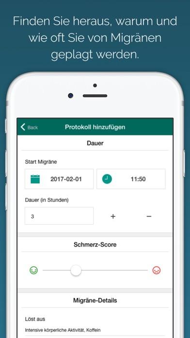 Screenshot for Migräne Tagebuch - Notizbuch für Migräneattacken in Germany App Store