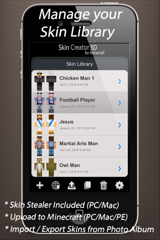Download Skin Creator 3D for Minecraft app for iPhone and iPad