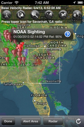 TornadoSpy+: Tornado Maps, Warnings and Alerts screenshot 1