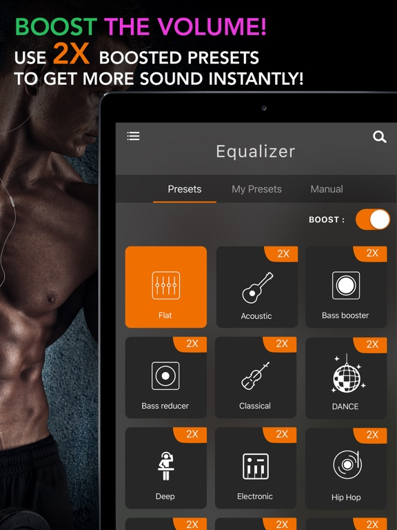 Screenshot #2 for Equalizer+ Pro Music Player and Volume Booster